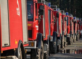 grande fil de camion de pompier