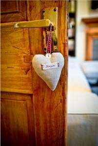 coeur bricolage pendentif poignée de porte