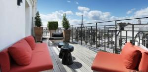 terrasse chambre hôtel Paris