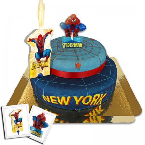 gâteau spider-man