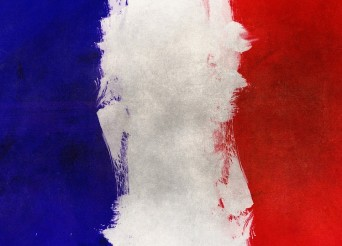 Drapeau Français peint à la vas vite asse grossièrement